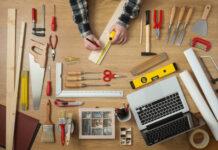 Handyman med værktøj
