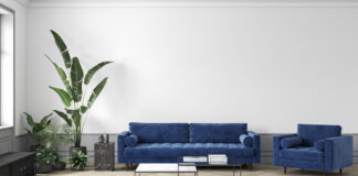 Sofa i velour